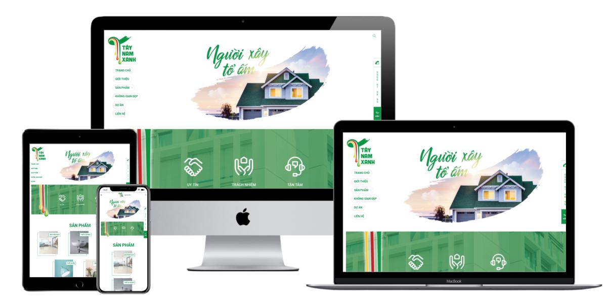 Tây Nam Xanh web responsive